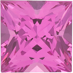Pink Spinel Princess Cut in Grade GEM