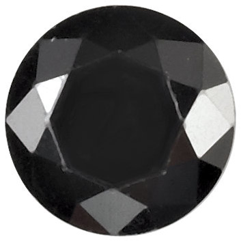 Genuine Black Cubic Zirconia Gemstone in Round Shape Sized 2.00 mm