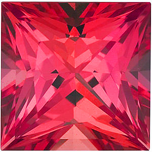 Grade GEM CHATHAM CREATED PADPARADSCHA SAPPHIRE Princess Cut Gems  - Calibrated