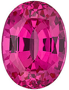 Grade GEM CHATHAM CREATED PINK SAPPHIRE Oval Cut Gems  - Calibrated