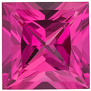 Grade GEM CHATHAM CREATED PINK SAPPHIRE Princess Cut Gems  - Calibrated