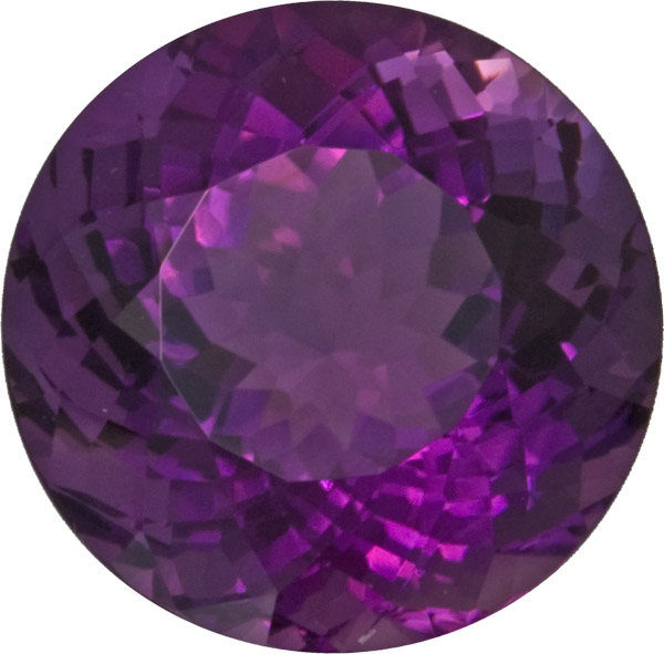 Top Quality Amethyst Loose Gem in Huge Round Cut, Super Nice Purple Color in 17.7 mm, 20.7 carats