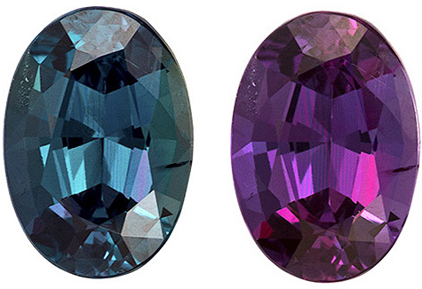 Exceptional Alexandrite Gemstone, Oval in Eggplant to Teal Color Change, 6.1 x 4.3 mm, 0.63 carats - SOLD