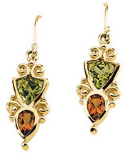 Peridot & Citrine Earrings