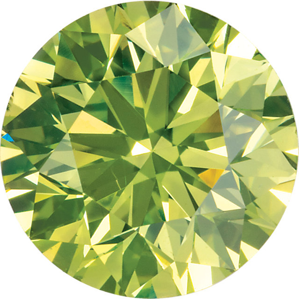 Natural Quality Loose Round Shape Enhanced Apple Green Diamond SI Clarity, 1.80 mm in Size, 0.03 Carats