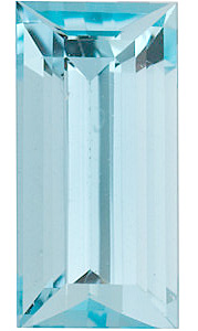 High Quality Loose Aquamarine Gemstone in Baguette Shape Grade A, 4.00 x 2.00 mm in Size, 0.12 carats