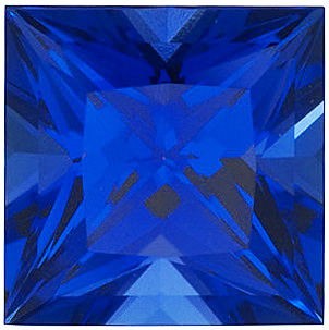 Grade GEM CHATHAM CREATED BLUE SAPPHIRE Princess Cut Gems