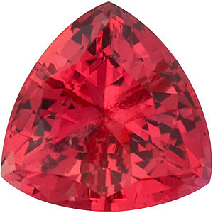 Grade GEM CHATHAM CREATED PADPARADSCHA SAPPHIRE Trillion Cut Gems  - Calibrated