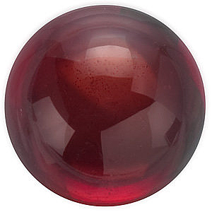 Loose Red Garnet Gemstone, Round Shape Cabochon, Grade AAA, 4.00 mm in Size, 0.45 carats