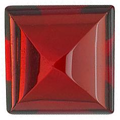 Genuine Red Garnet Stone, Square Shape Cabochon, Grade AAA, 7.00 mm in Size, 2.75 carats