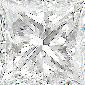 Genuine Princess Cut Diamonds in E Color - VS Clarity