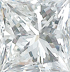 Genuine Princess Cut Diamonds in GH Color - VS Clarity