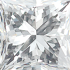 Genuine Princess Cut Diamonds in GH Color - SI Clarity