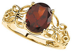 Mozambique Garnet Butterfly Design Ring