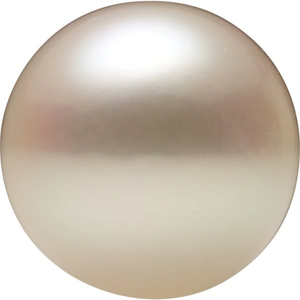 Seven Eighths Shape Half Drilled White Akoya Cultured Pearl Grade AA, 6.00 mm in Size