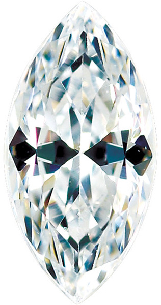 Colorless Enhanced Cubic Zirconia Loose Faceted Gemstone Marquise Shape Sized 7.00 x 3.50 mm