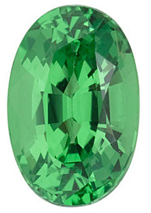 Oval Cut Genuine Tsavorite Garnet in Grade AA