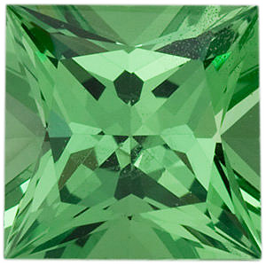 Princess Cut Genuine Tsavorite Garnet in Grade AA