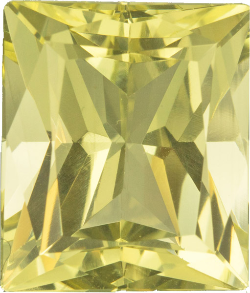 Stunning Radiant Cut Loose Yellow Beryl Gemstone, Rich Yellow Color German Cut in 15.5 x 13.3 mm, 13.38 carats