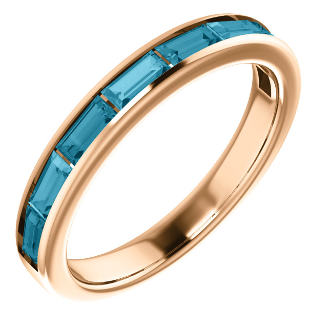 14 Karat Rose Gold London Blue Topaz Ring