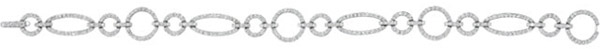 14K White 1 1/2 CTW Diamond Bracelet