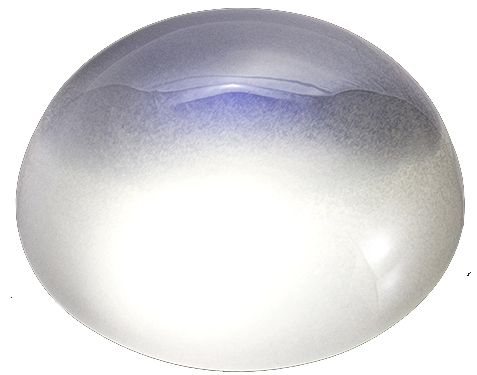 Silver Blue Moonstone Round Cabochon, Very Desirable Stone in 11.0 mm, 4.19 Carats - SOLD