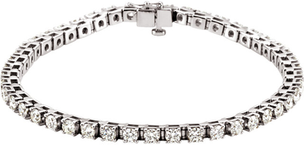 Platinum 4 1/2 Carat Total Weight Diamond Line Bracelet