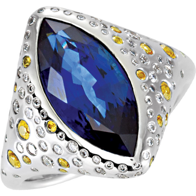 Platinum London Blue Topaz