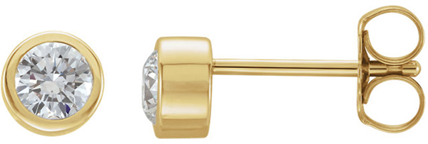 14 Karat Yellow Gold 1/4 Carat Total Weight Diamond Earring