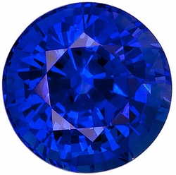 Loose Blue Sapphire Gemstone, Round Shape, Grade AAA, 2.75 mm in Size, 0.13 Carats