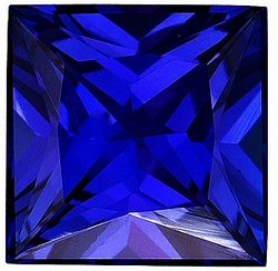 Discount Blue Sapphire Gemstone, Princess Shape, Grade AAA, 1.50 mm in Size, 0.03 Carats