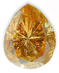 Fancy Light Orangy Brownish Yellow 0.66 carats