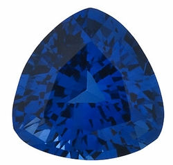 Natural Blue Sapphire Gem, Trillion Shape, Grade AA, 3.00 mm in Size, 0.16 Carats