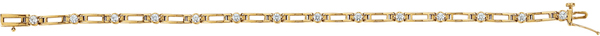 14KT Yellow Gold 3/4 CTW Diamond Line 7.25
