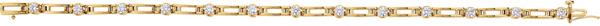 14KT Yellow Gold 1 1/3 CTW Diamond Line 7.25