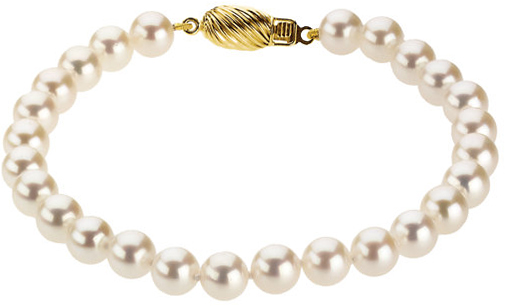14KT Yellow Gold 6-6.5mm Akoya Cultured Pearl 7