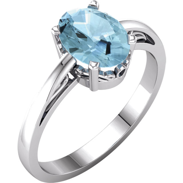 14KT Yellow Gold Sky Blue Topaz Ring