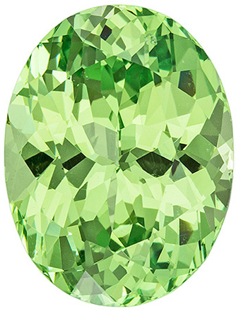Beautiful Merelani Green Garnet Loose Gemstone in Oval Cut, Light Mint Green, 11 x 8.4 mm, 4 carats