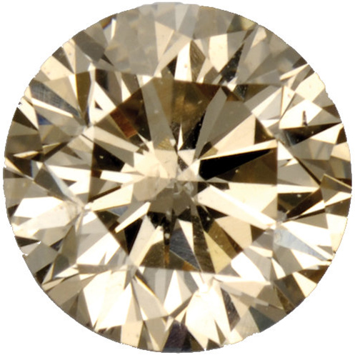 Top Light Brown Diamonds in Round Cut