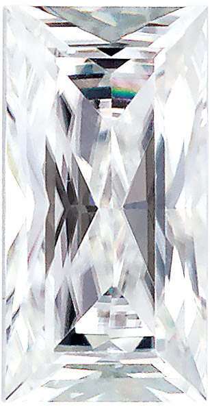 Forever One Moissanite Colorless Baguette Cut