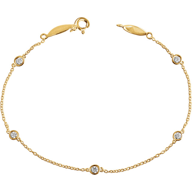 14 KT Yellow Gold 1/3 Carat Total Weight Diamond Bracelet