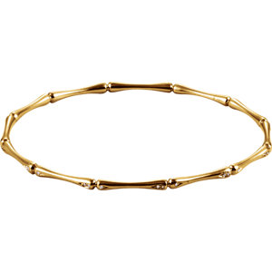 14 KT Yellow Gold 65mm 1/6 Carat Total Weight Diamond Bracelet