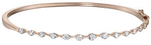 14KT Rose Gold 1 CTW Diamond Bangle Bracelet