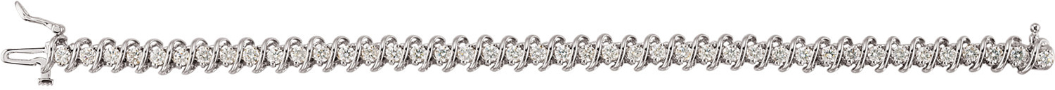 14KT White Gold 3 1/3 CTW Diamond Line Bracelet