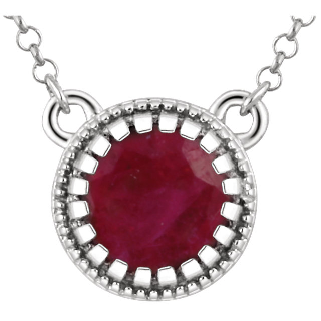 14KT White Gold Ruby