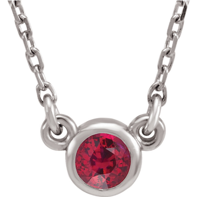 14KT White Gold Ruby 16