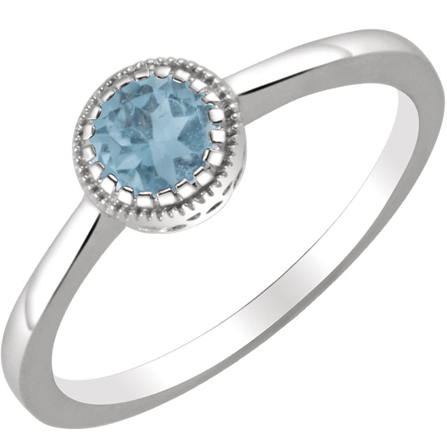 14KT White Gold Swiss Blue Topaz