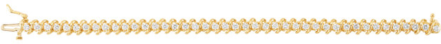14KT Yellow Gold 3 1/3 CTW Diamond Line Bracelet