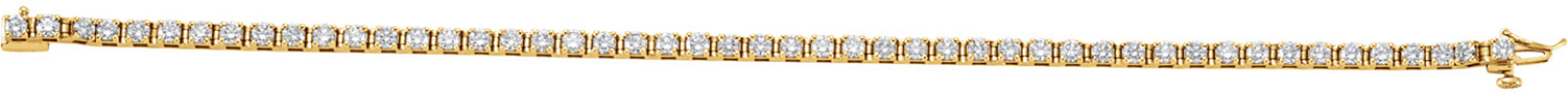 14KT Yellow Gold 3 3/8 CTW Diamond Line Bracelet