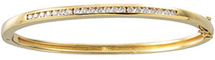 14KT Yellow Gold 5/8 CTW Diamond Bangle Bracelet